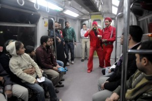 Clowns U-Bahn