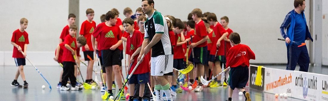 Unihockey-Training mit Matthias Hofbauer