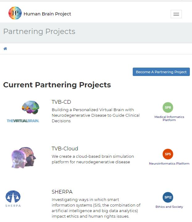 FLAG-ERA finances 25 FET Flagship projects. Nine new Partnering Projects Join The Human Brain Project - News